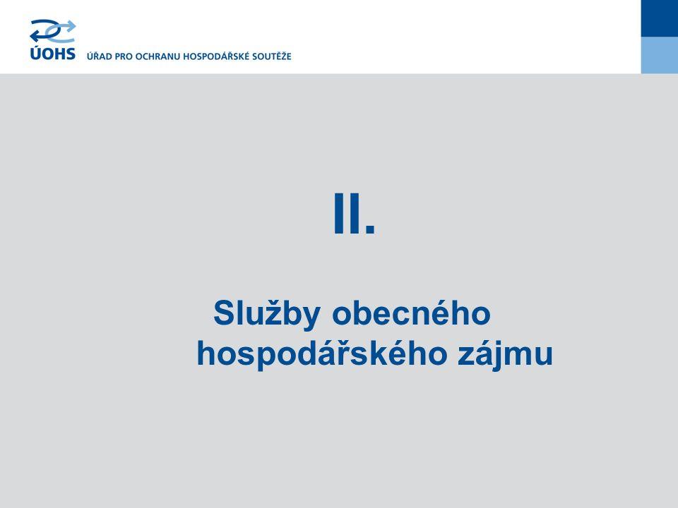 II. Služby obecného hospodářského zájmu