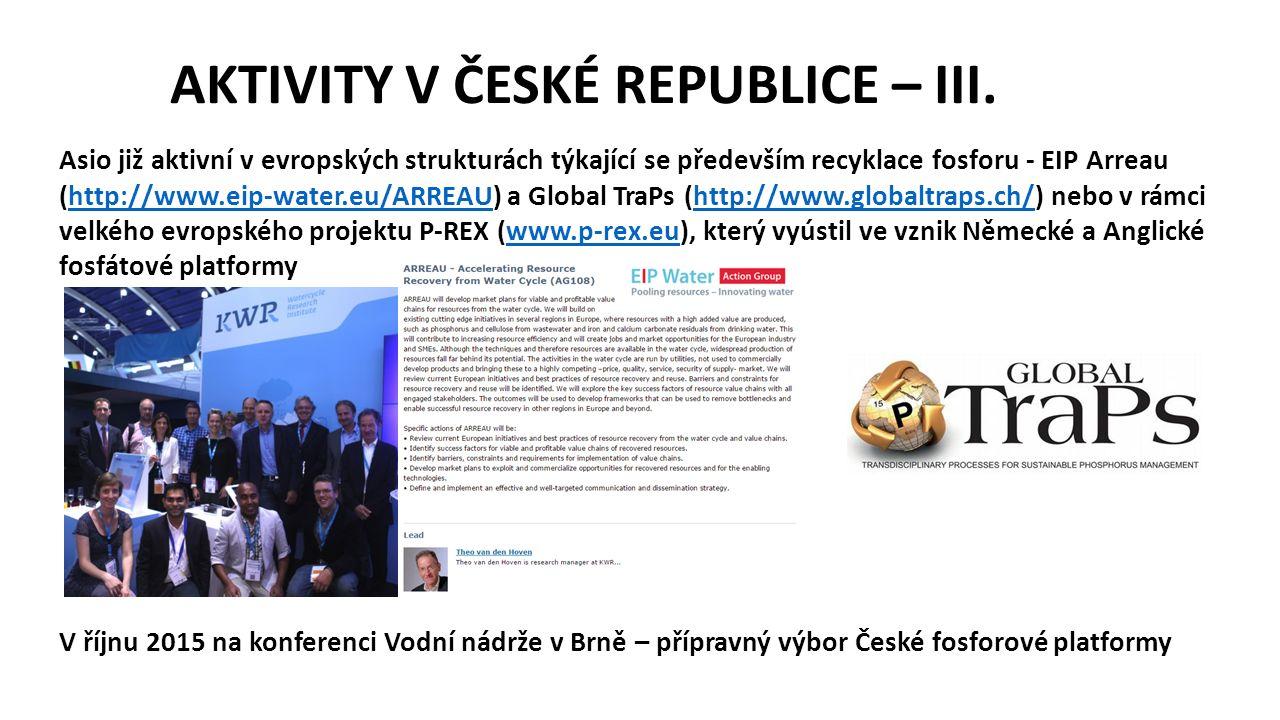 AKTIVITY V ČESKÉ REPUBLICE – III.