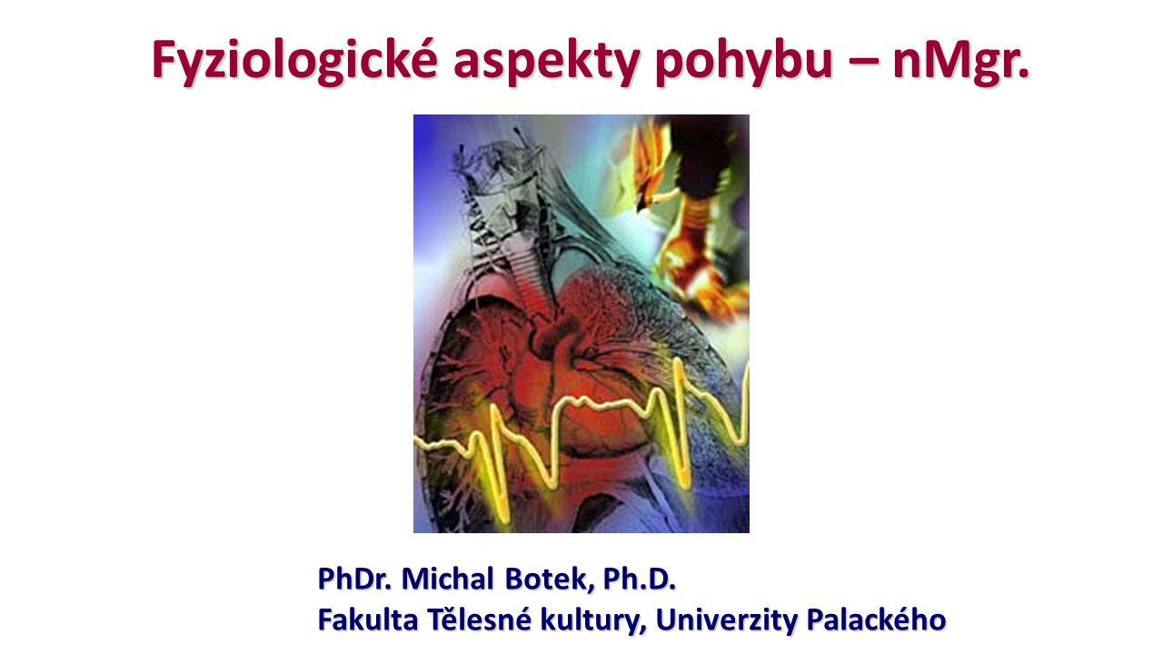 Fyziologické aspekty pohybu – nMgr. PhDr. Michal Botek, Ph.D. Fakulta Tělesné kultury, Univerzity Palackého
