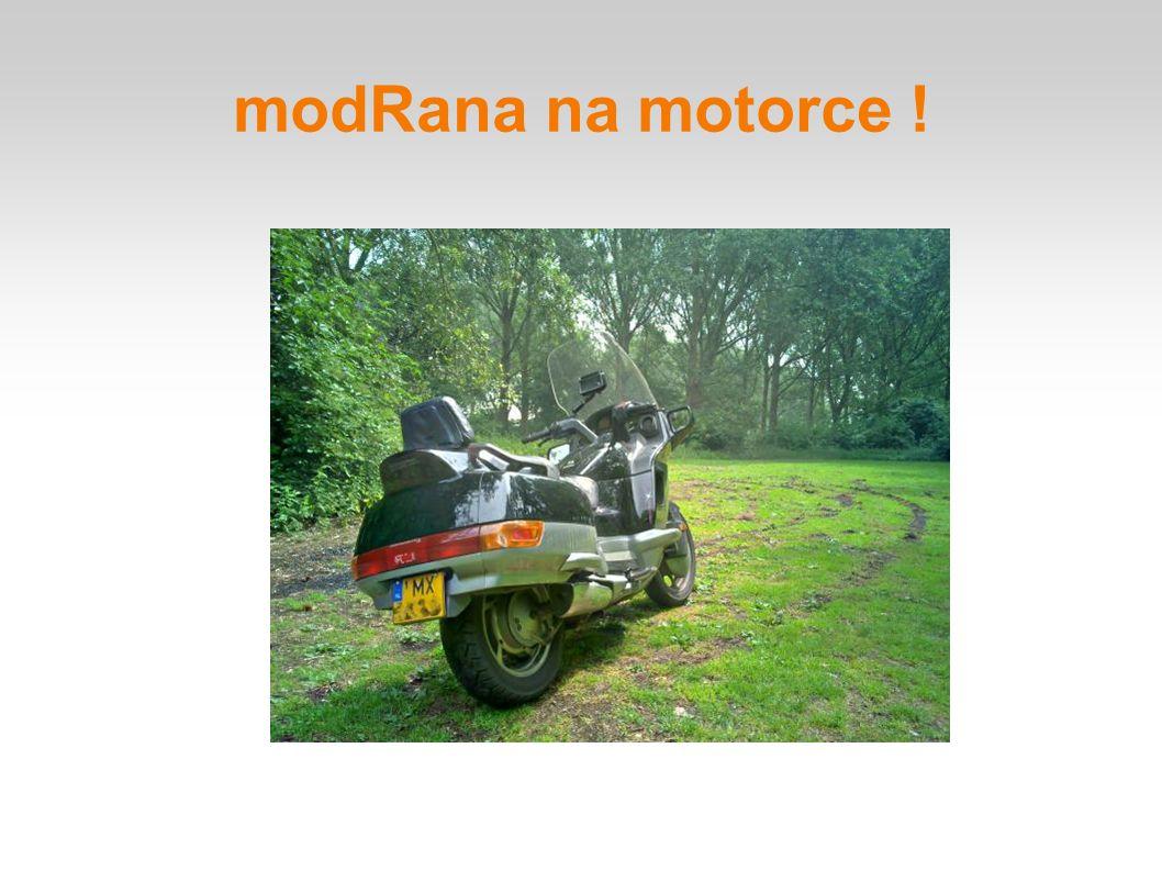modRana na motorce !