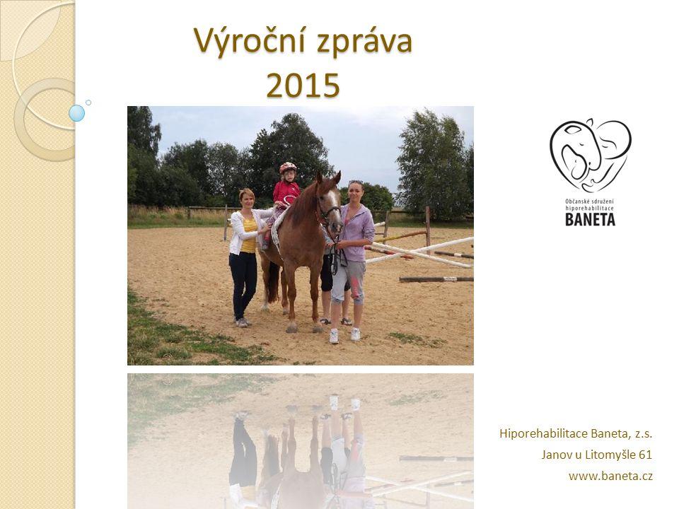 Výroční zpráva 2015 Hiporehabilitace Baneta, z.s. Janov u Litomyšle 61 www.baneta.cz