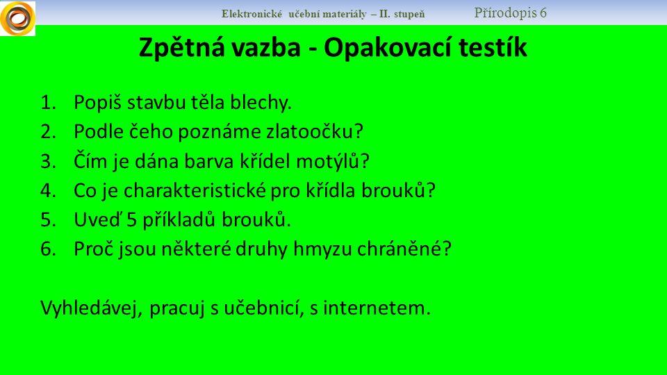 Elektronické učební materiály – II.stupeň Přírodopis 6 9.