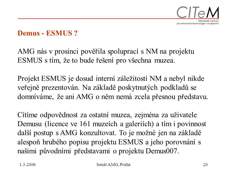 1.3.2006Senát AMG, Praha20 Demus - ESMUS .