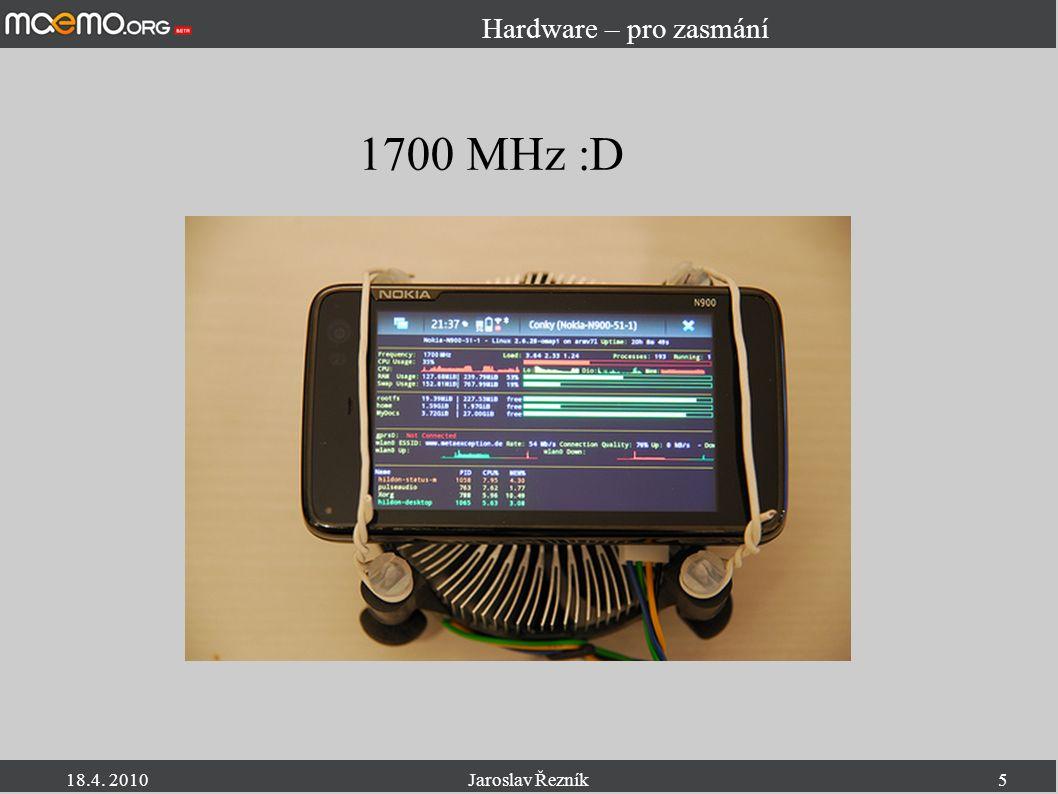 18.4.2010Jaroslav Řezník6 Hardware II.