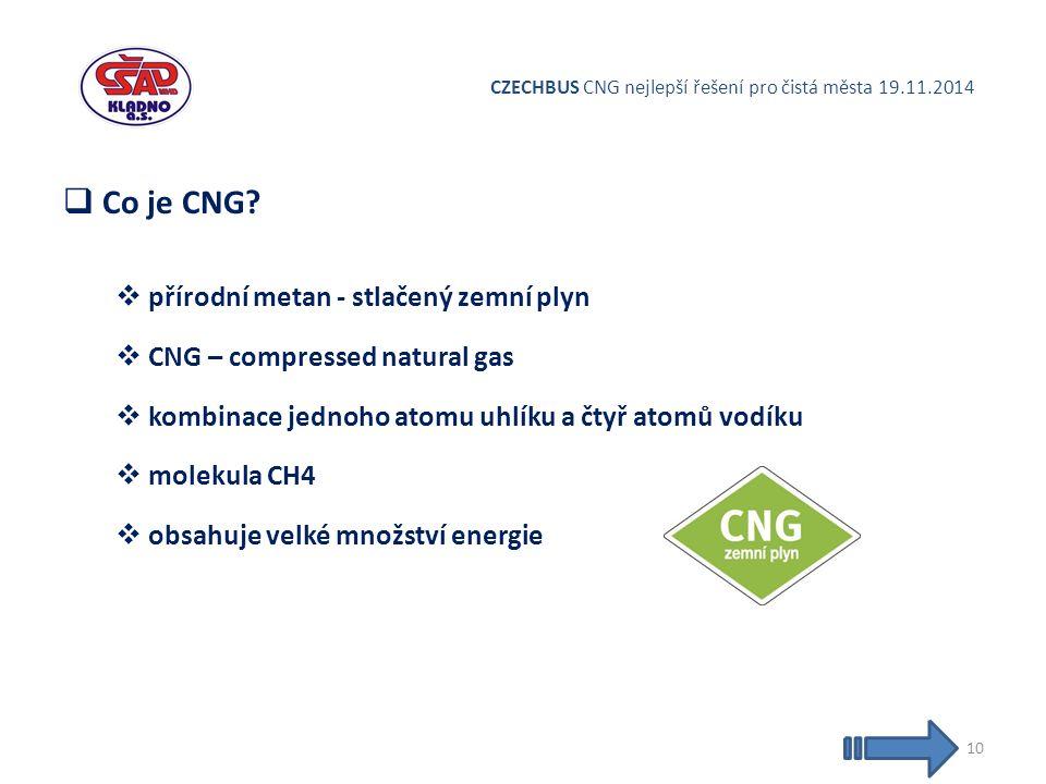 CZECHBUS CNG nejlepší řešení pro čistá města 19.11.2014  Co je CNG.