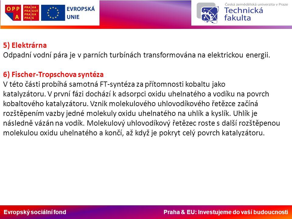 Evropský sociální fond Praha & EU: Investujeme do vaší budoucnosti 5) Elektrárna Odpadní vodní pára je v parních turbínách transformována na elektrickou energii.