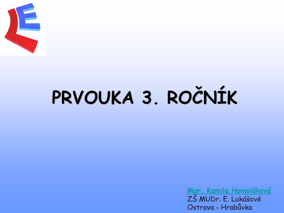 PRVOUKA 3. ROČNÍK Mgr. Kamila Homoláková ZŠ MUDr. E. Lukášové Ostrava - Hrabůvka