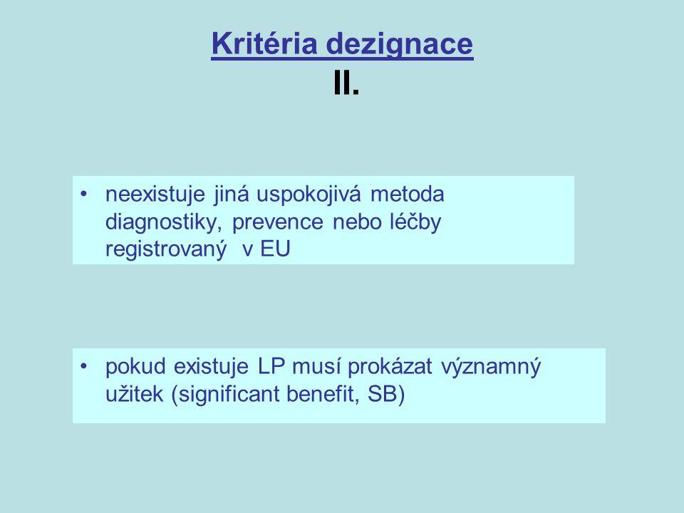 Kritéria dezignace II.
