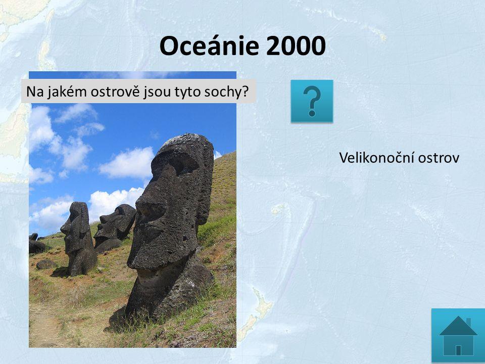 Oceánie 2000 Velikonoční ostrov Na jakém ostrově jsou tyto sochy?