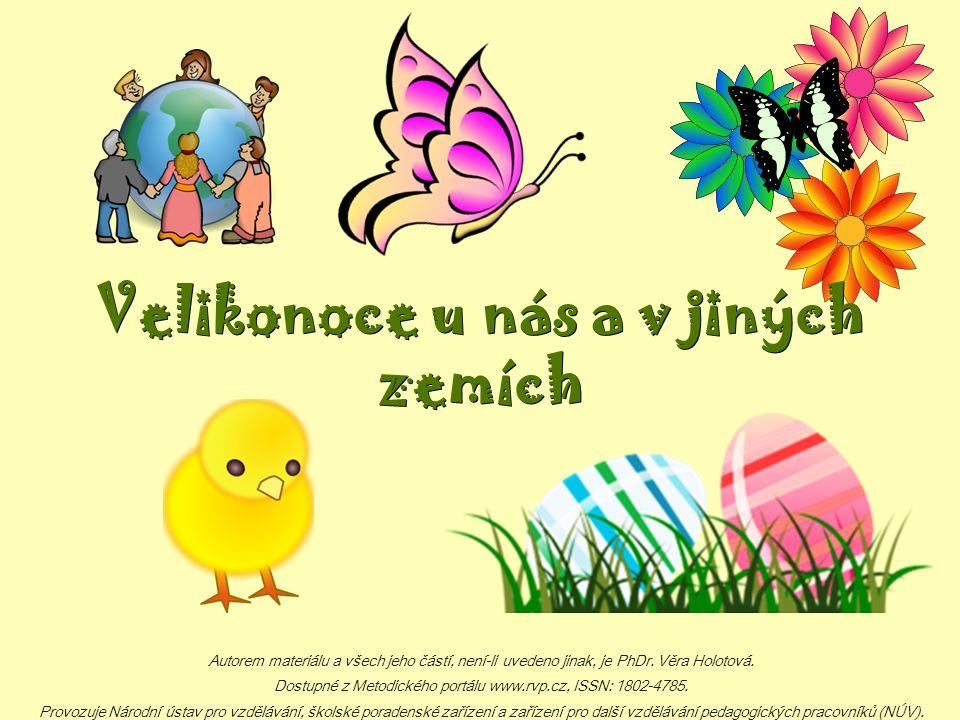 Jaro ‒ Velikonoce Přišlo jaro, slunce svítí, v zahradách je plno kvítí.