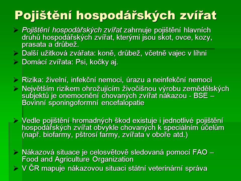 Reálné řešení  Koncepce zaštítěna MZ ČR, PGRLF, ČAP  V této koncepci se počítá s poskytováním dotací k zaplacenému pojistnému za zvířata a plodiny a také se vznikem Fondu nepojistitelných rizik.