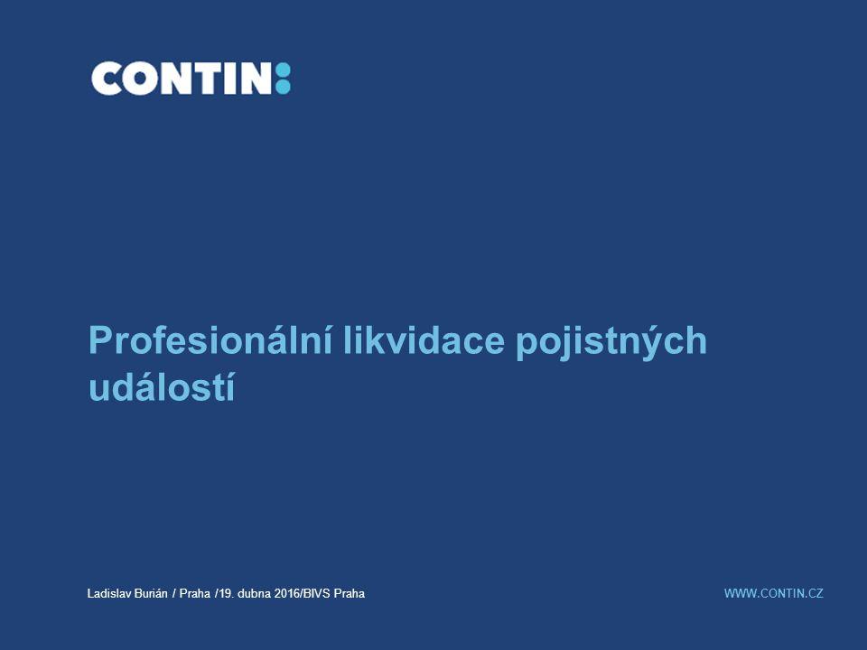 Profesionální likvidace pojistných událostí Ladislav Burián / Praha /19.