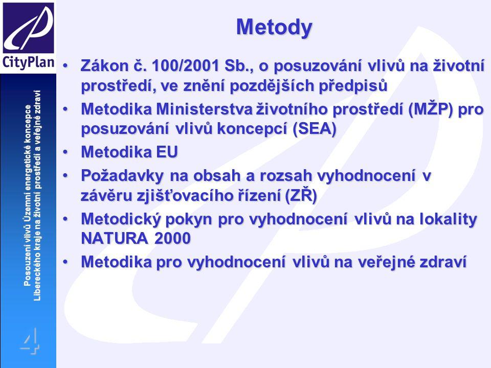 Posouzení vlivů Územní energetické koncepce Libereckého kraje na životní prostředí a veřejné zdraví 4Metody Zákon č.