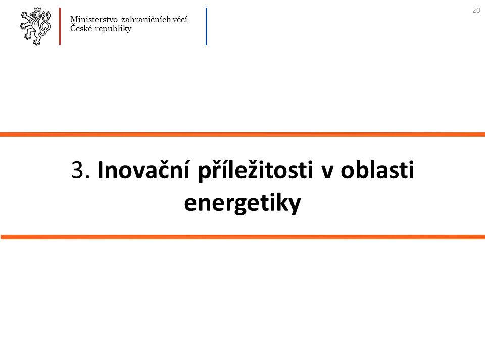 3. Inovační příležitosti v oblasti energetiky Ministerstvo zahraničních věcí České republiky 20