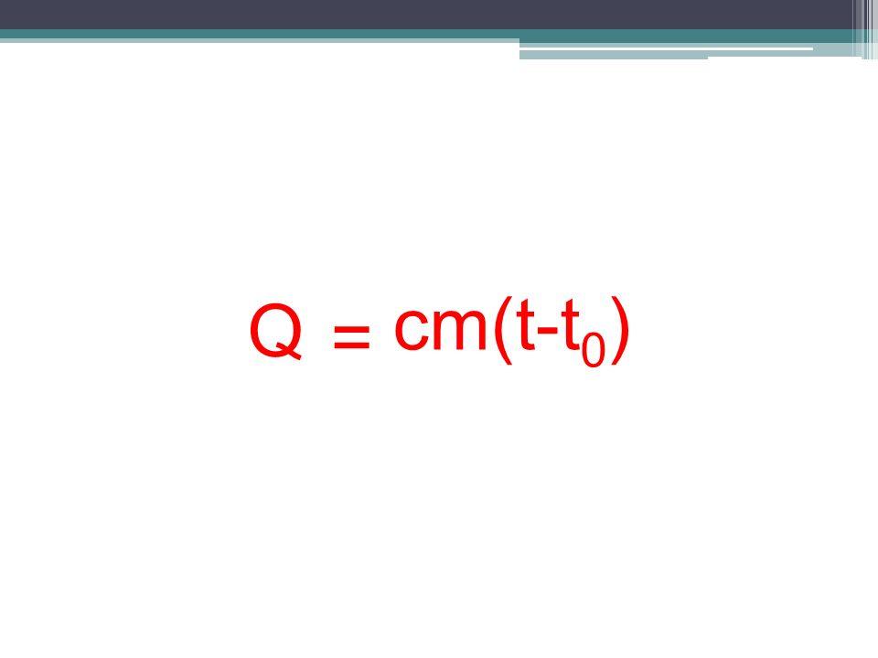 Q = cm(t-t 0 )