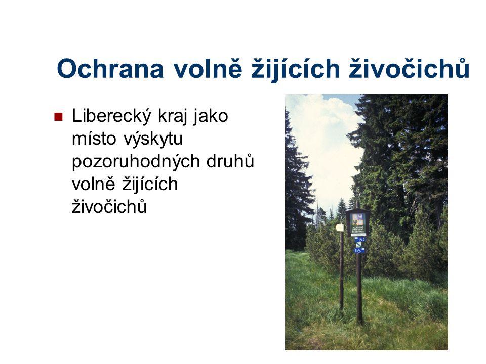 Ochrana volně žijících živočichů Liberecký kraj jako místo výskytu pozoruhodných druhů volně žijících živočichů