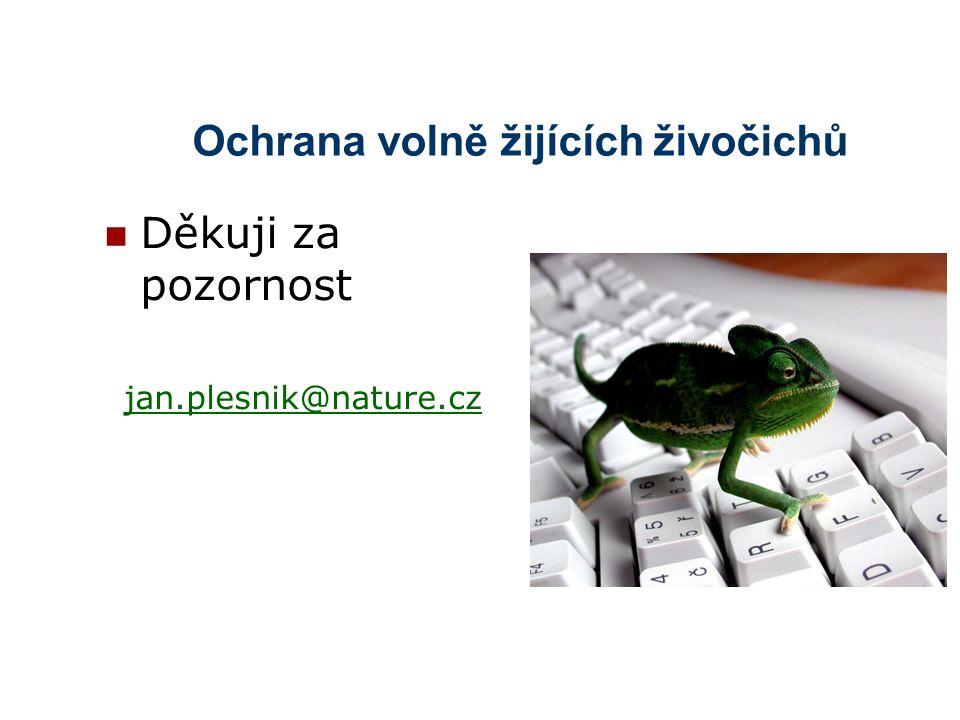 Ochrana volně žijících živočichů Děkuji za pozornost jan.plesnik@nature.cz
