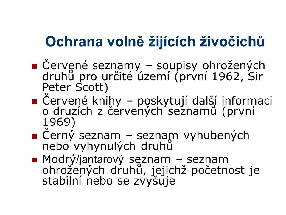 Ochrana volně žijících živočichů V ČR Zákon č.114/1992 S.