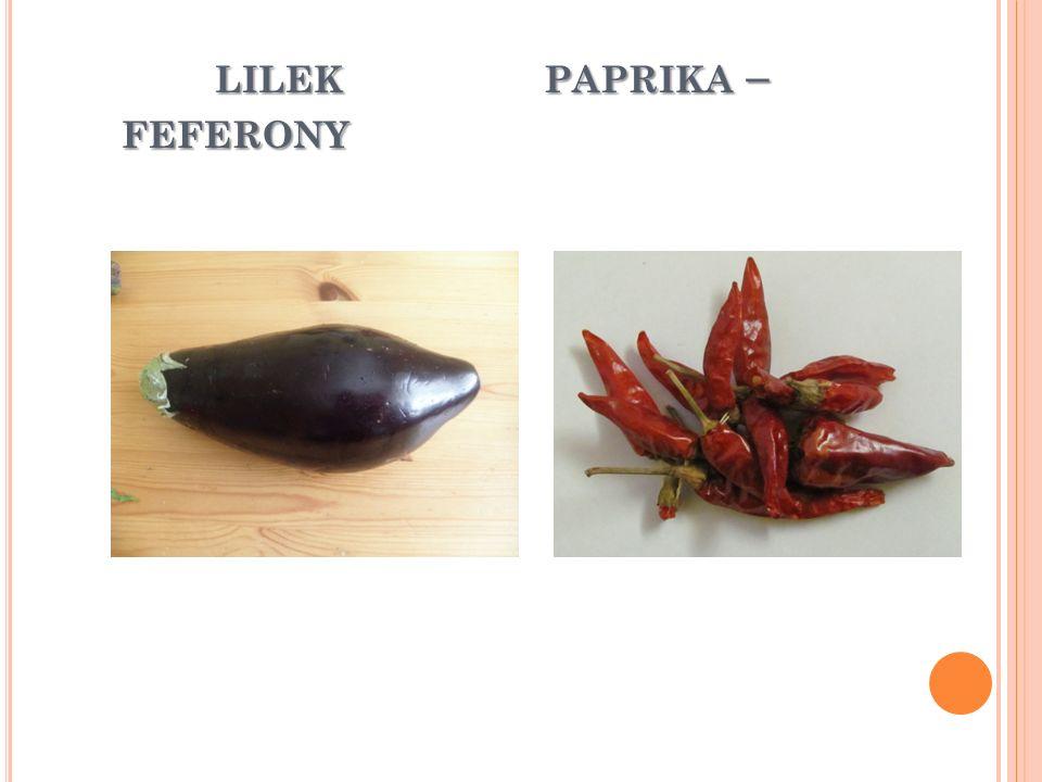 LILEK PAPRIKA – FEFERONY LILEK PAPRIKA – FEFERONY