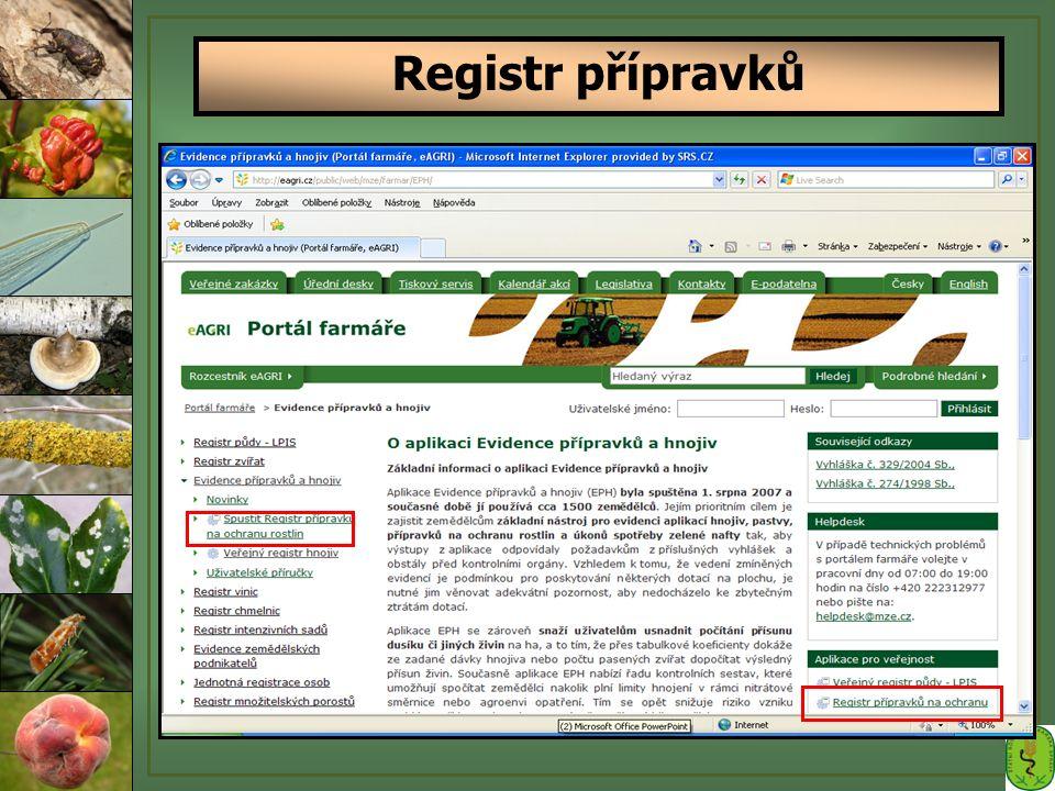 Registr přípravků