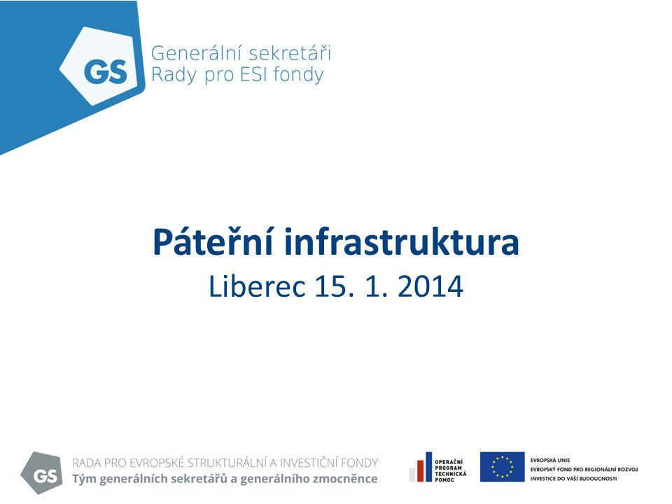 Páteřní infrastruktura Liberec 15. 1. 2014
