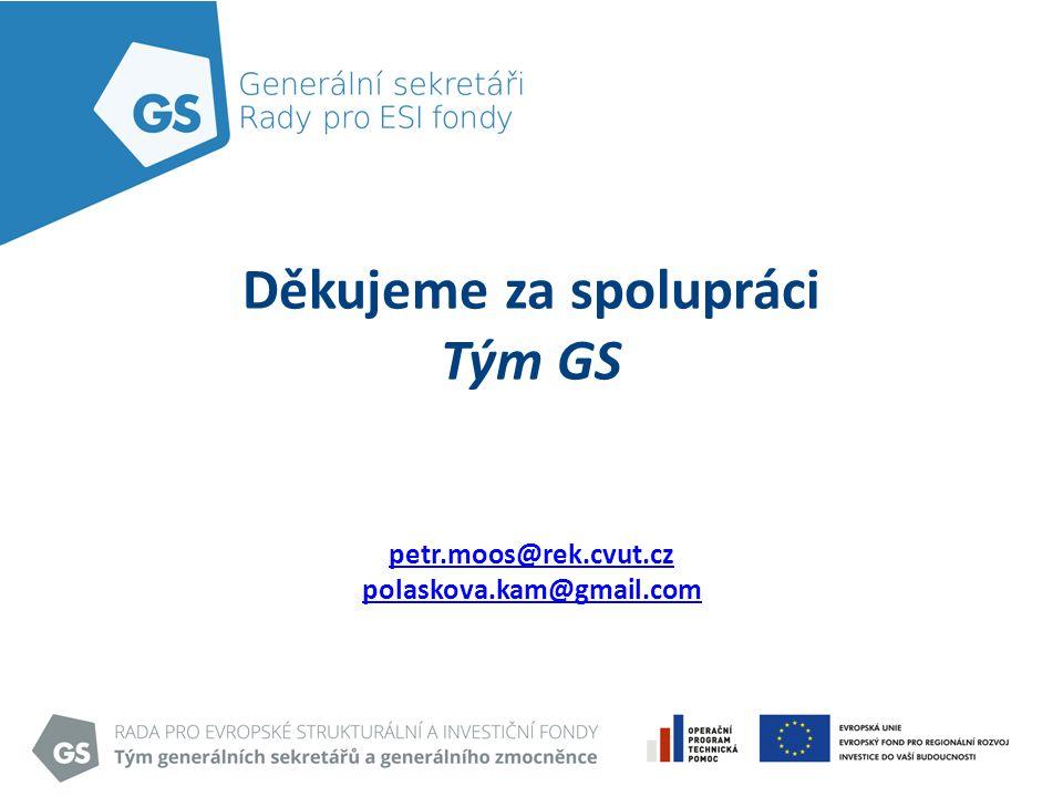Děkujeme za spolupráci Tým GS petr.moos@rek.cvut.cz polaskova.kam@gmail.com