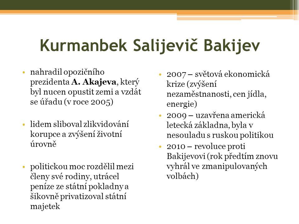 Kurmanbek Salijevič Bakijev nahradil opozičního prezidenta A.