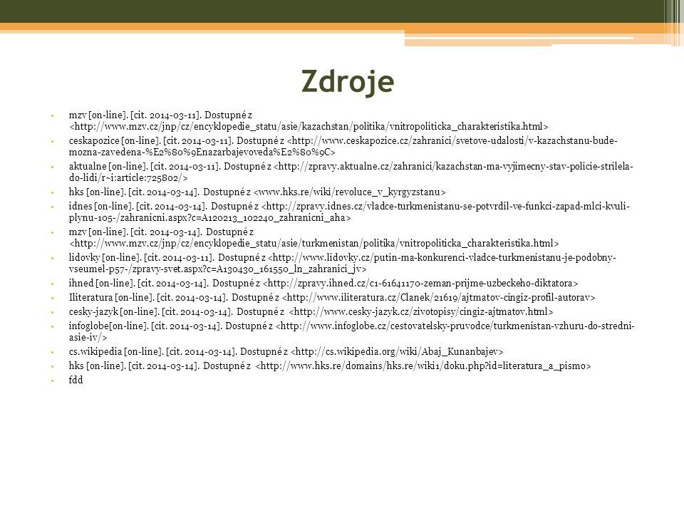 Zdroje mzv [on-line]. [cit. 2014-03-11]. Dostupné z ceskapozice [on-line].