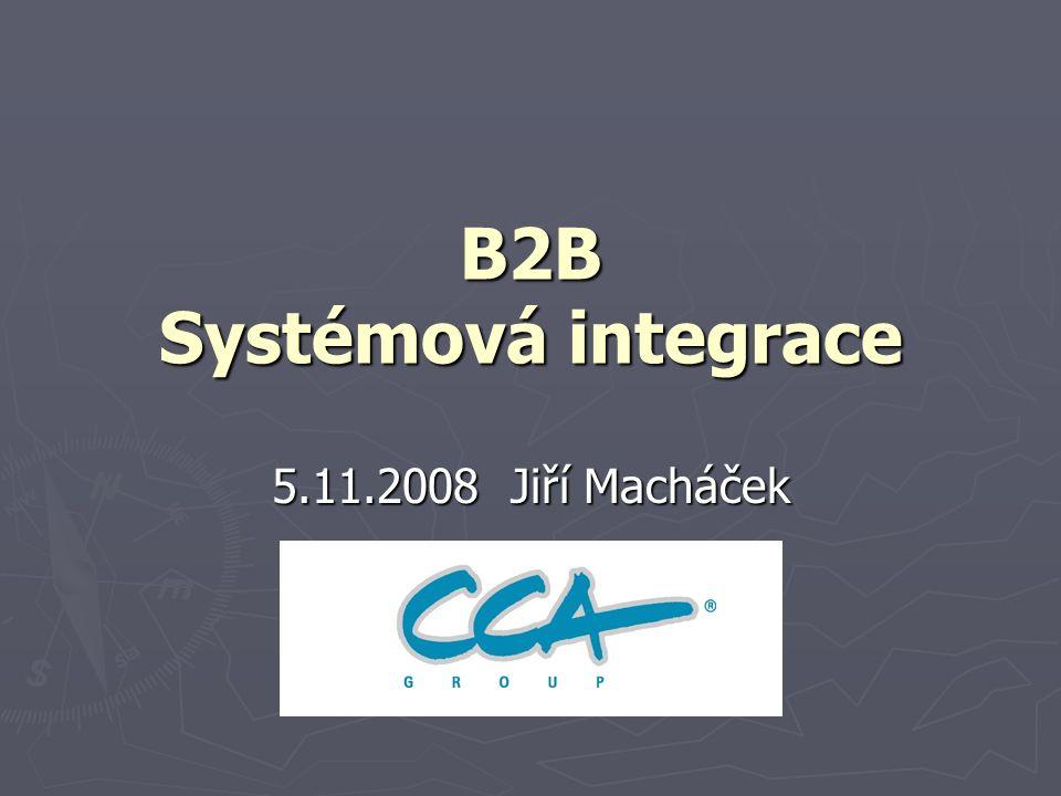 B2B Systémová integrace 5.11.2008 Jiří Macháček