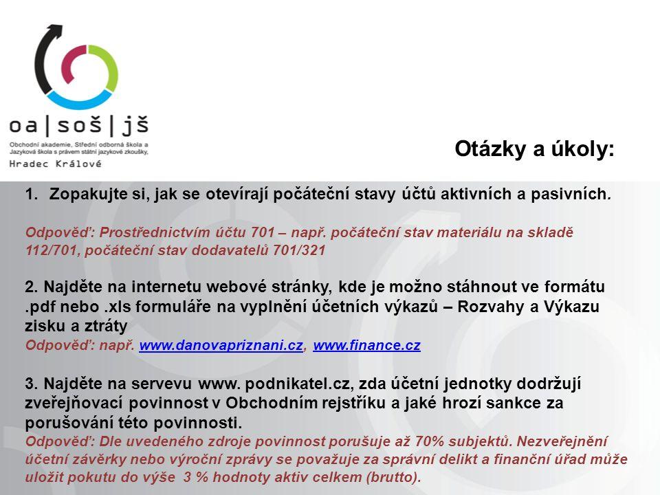 Zdroje, autorská práva: Knihy: ŠTOHL, Pavel.Učebnice účetnictví 2.díl.