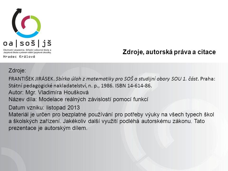 Zdroje, autorská práva a citace Zdroje: FRANTIŠEK JIRÁSEK.