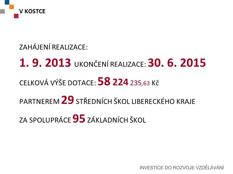 V KOSTCE ZAHÁJENÍ REALIZACE: 1. 9. 2013 UKONČENÍ REALIZACE: 30.