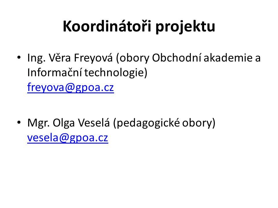 Koordinátoři projektu Ing.