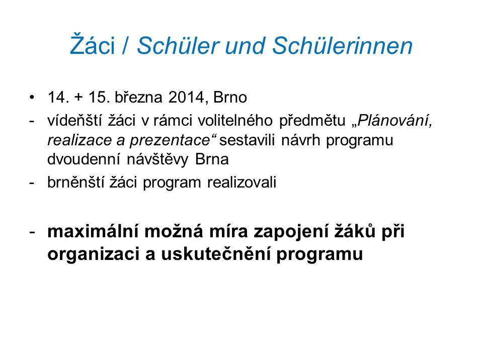 Žáci / Schüler und Schülerinnen 14. + 15.
