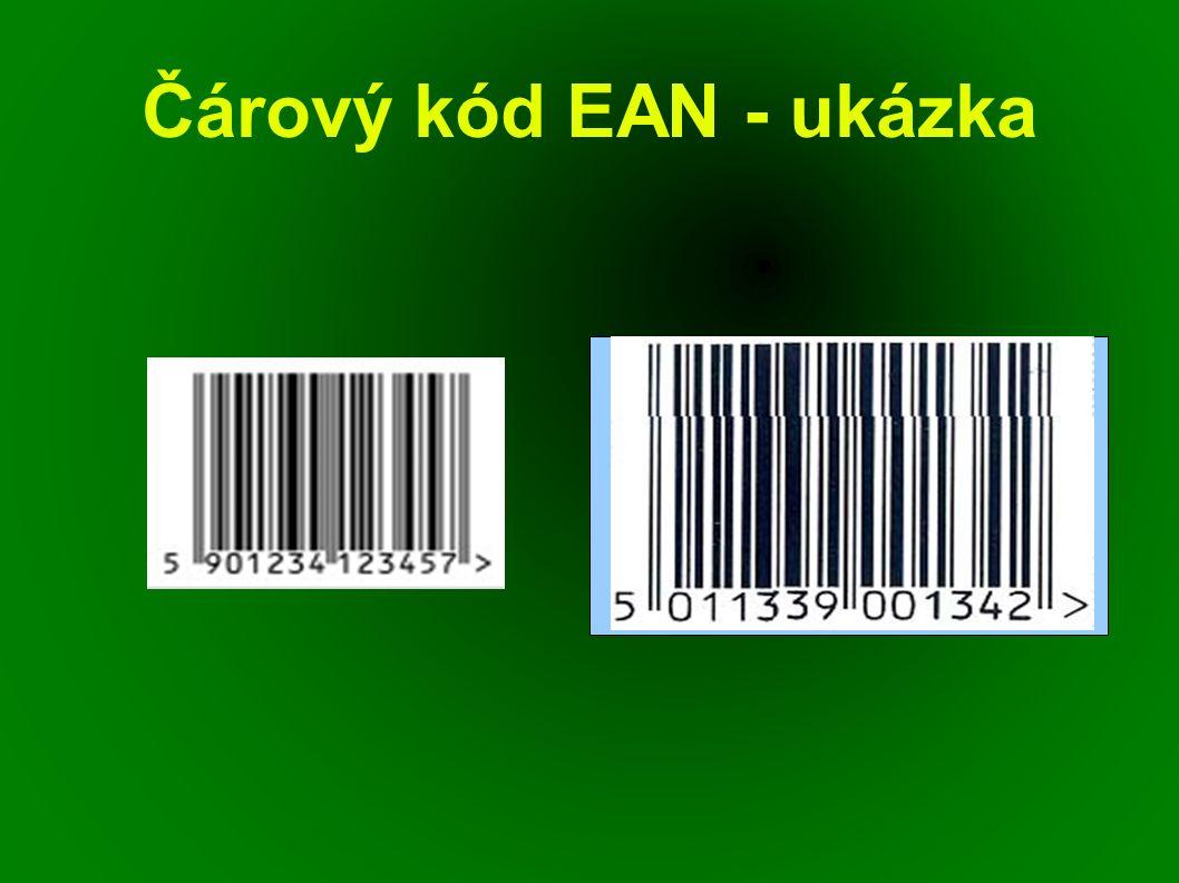 Čárový kód EAN - ukázka