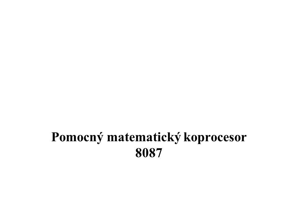Pomocný matematický koprocesor 8087