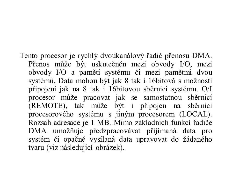 Tento procesor je rychlý dvoukanálový řadič přenosu DMA.