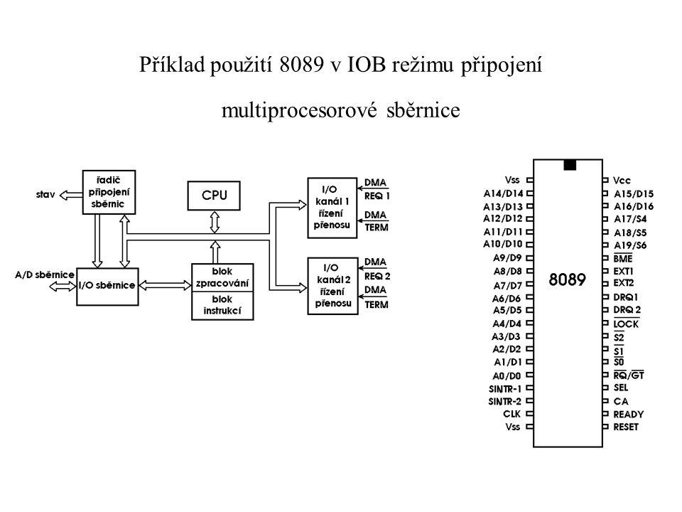 Příklad použití 8089 v IOB režimu připojení multiprocesorové sběrnice