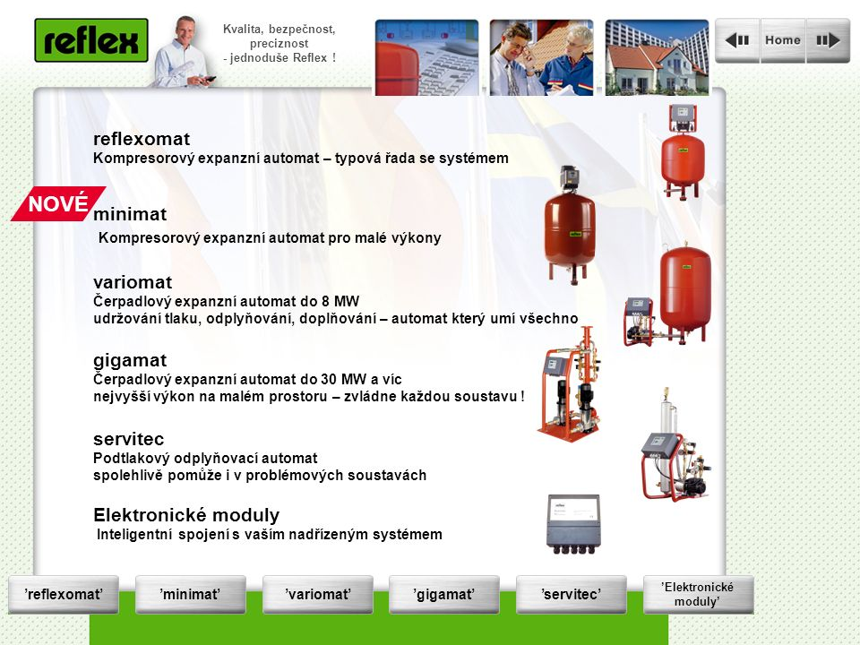 Die Druckhaltung wird zur Servicestation Kvalita, bezpečnost, preciznost - jednoduše Reflex .