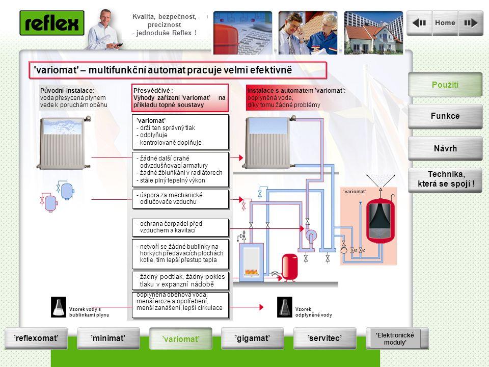 Die Druckhaltung wird zur Servicestation Qualität, Sicherheit, Präzision - einfach reflexionär .