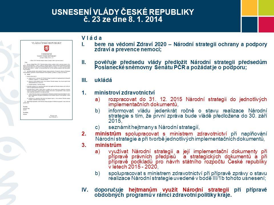 USNESENÍ VLÁDY ČESKÉ REPUBLIKY č. 23 ze dne 8. 1.