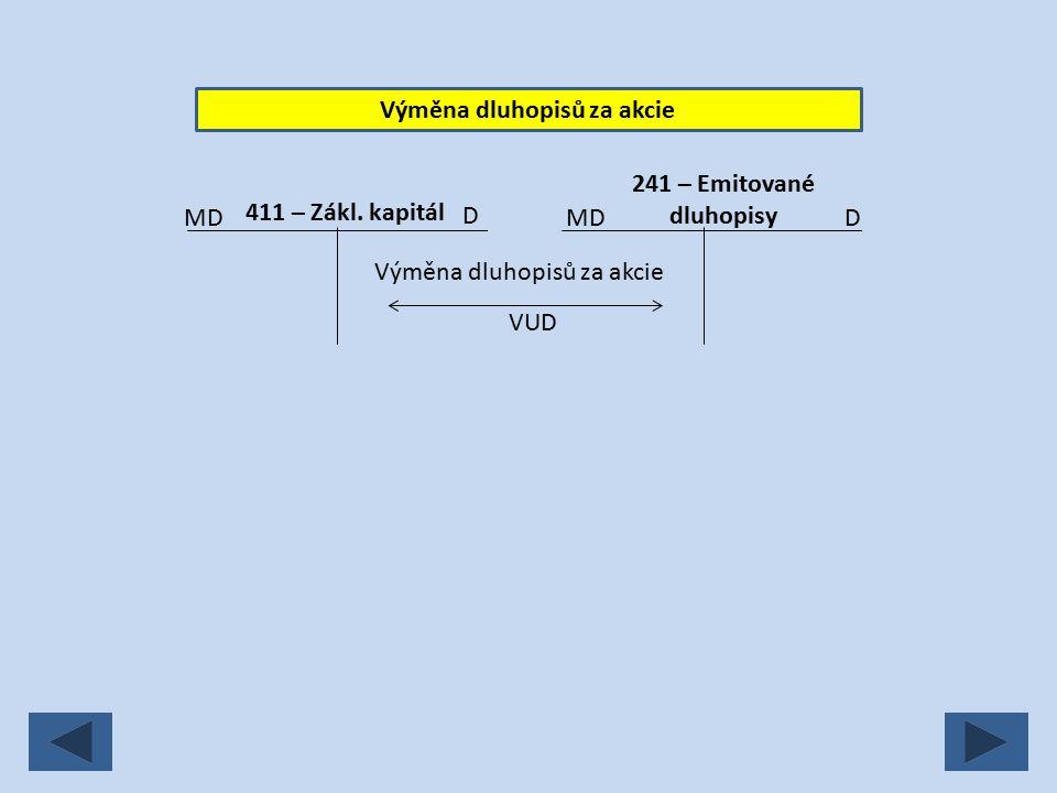 Výměna dluhopisů za akcie VUD Výměna dluhopisů za akcie MD D 411 – Zákl.