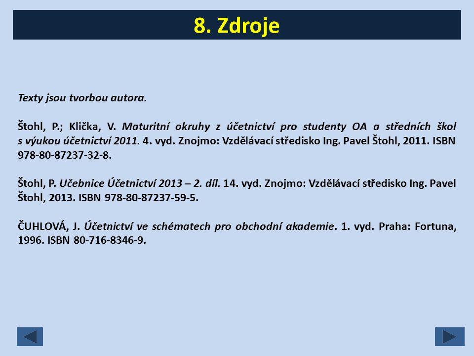 Texty jsou tvorbou autora. Štohl, P.; Klička, V.