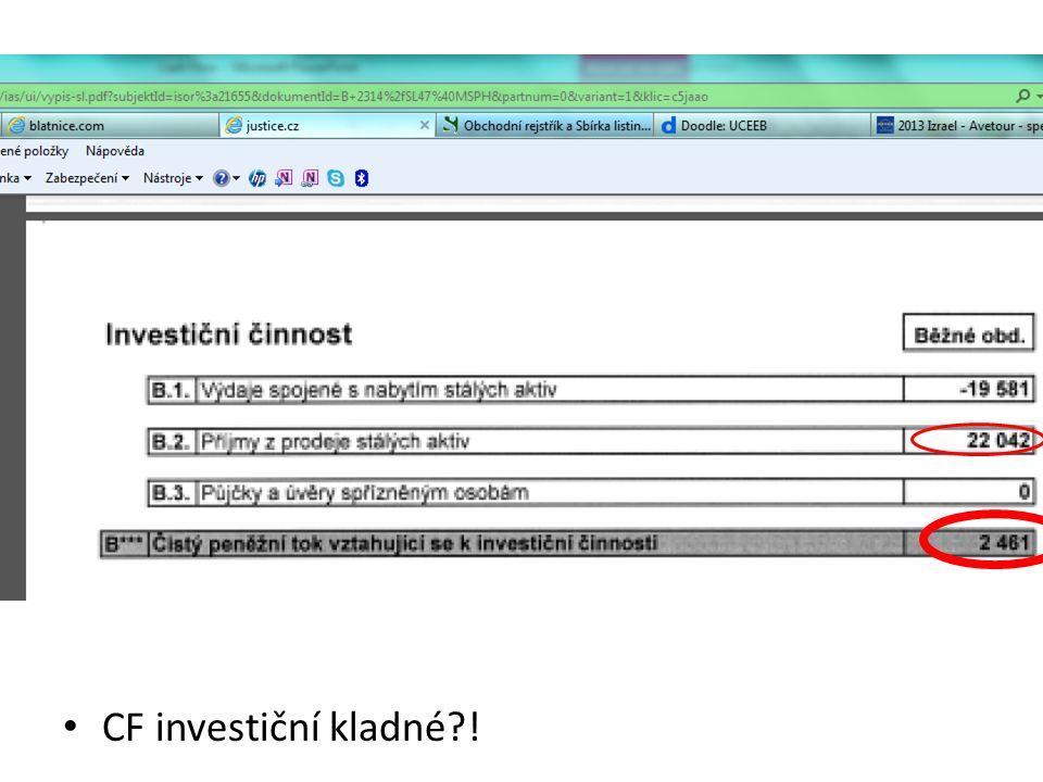 CF investiční kladné !