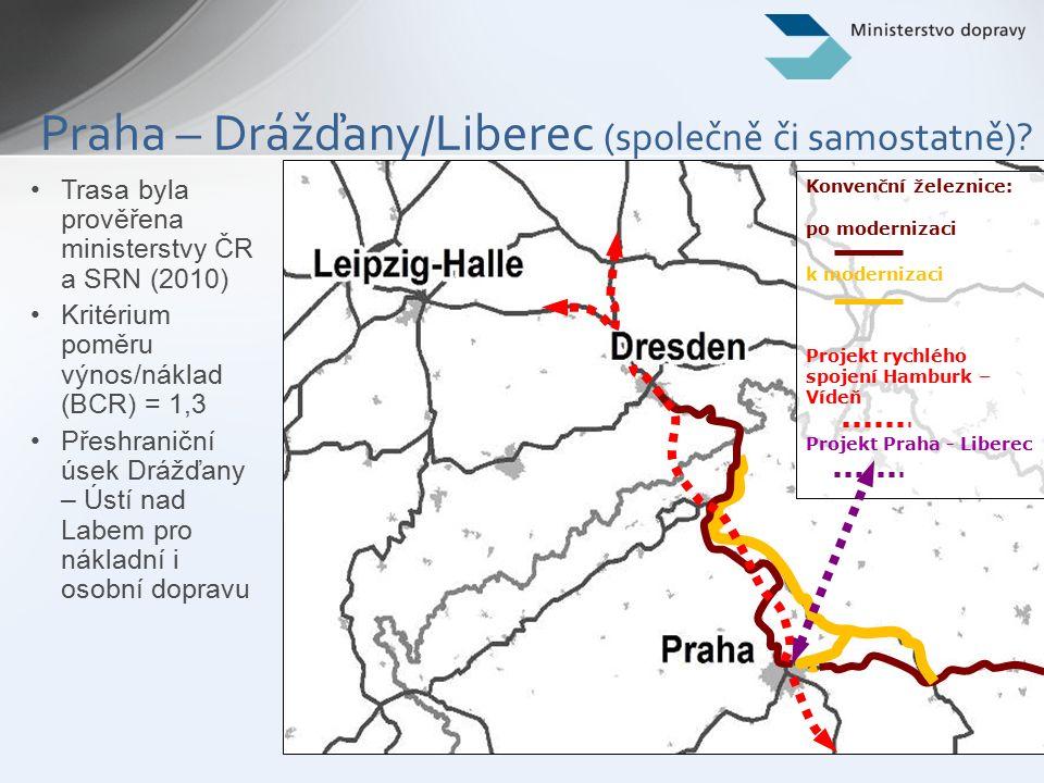 4 PP 22 (hlavní větev) – současný stav Existující úseky Děčín – Praha – Kolín (core network passenger) a Kolín – Brno – Břeclav (core network mixed): –po revitalizaci × veškeré parametry core network nebyly dosaženy –již vybaveno GSM-R, vybavení ETCS se předpokládá do roku 2015 (koridor E) Existující úsek Děčín – Nymburk – Kolín (core network freight): –revitalizace za účelem dosažení parametrů core network freight v letech 2014-2020 –vybavení GSM-R & ETCS do roku 2020 (koridor E) core (mixed) comprehensive core (freight) core (mixed) core (passenger)