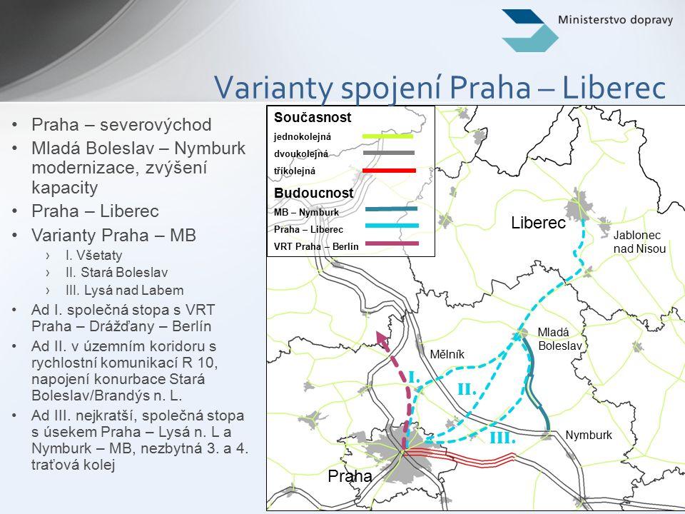 10 PP 22 – Praha – Norimberk/Mnichov Český úsek spojení Praha – Norimberk bude dosáhne parametrů comprehensive network do r.