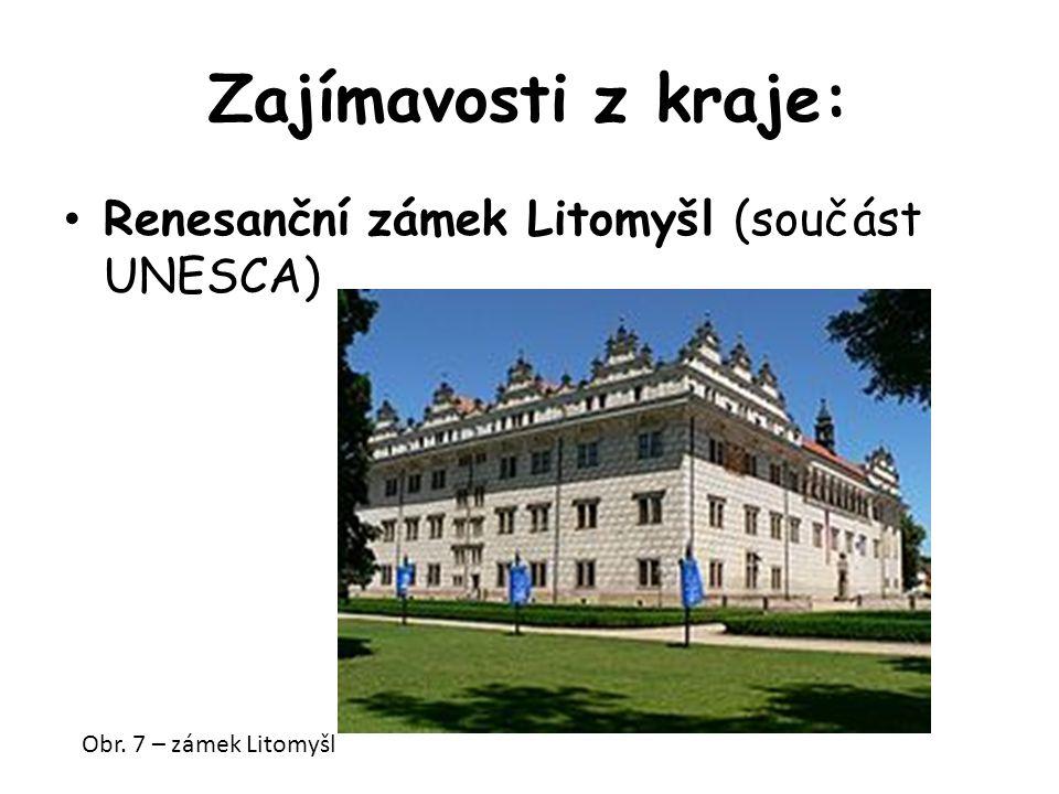 Zajímavosti z kraje: Renesanční zámek Litomyšl (součást UNESCA) Obr. 7 – zámek Litomyšl