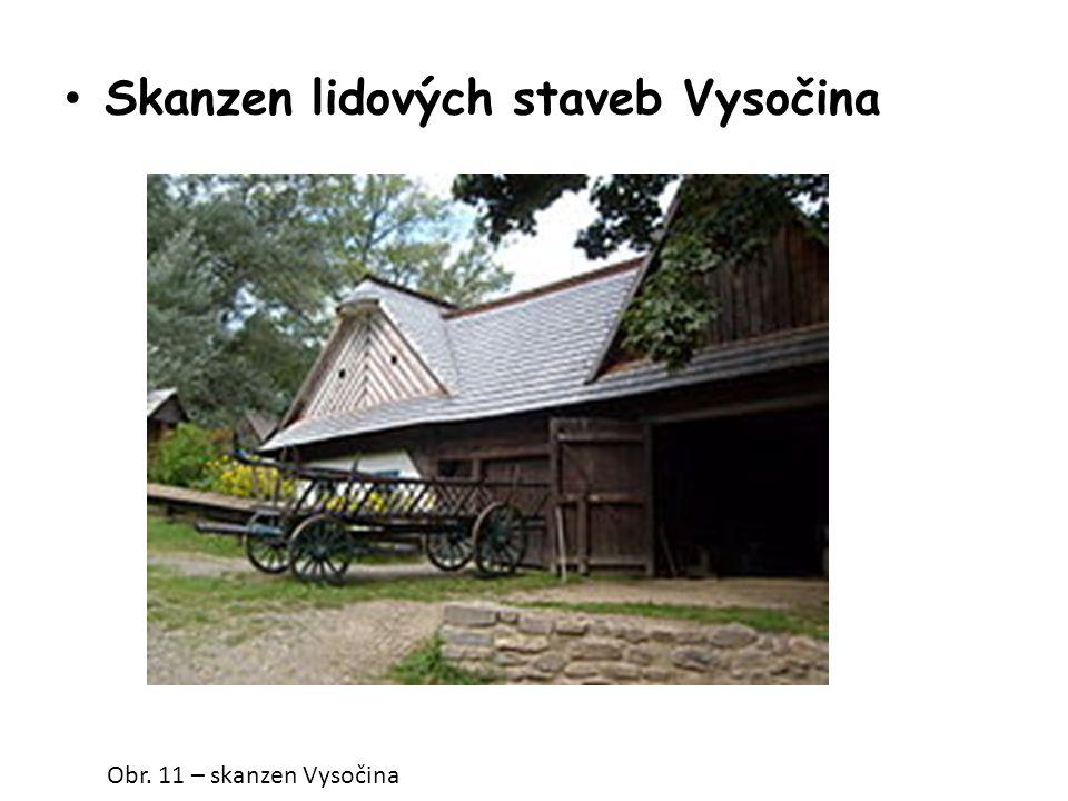 Skanzen lidových staveb Vysočina Obr. 11 – skanzen Vysočina