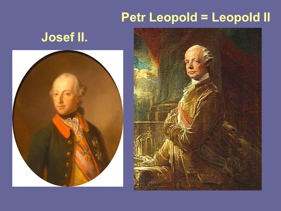 Josef II. Petr Leopold = Leopold II