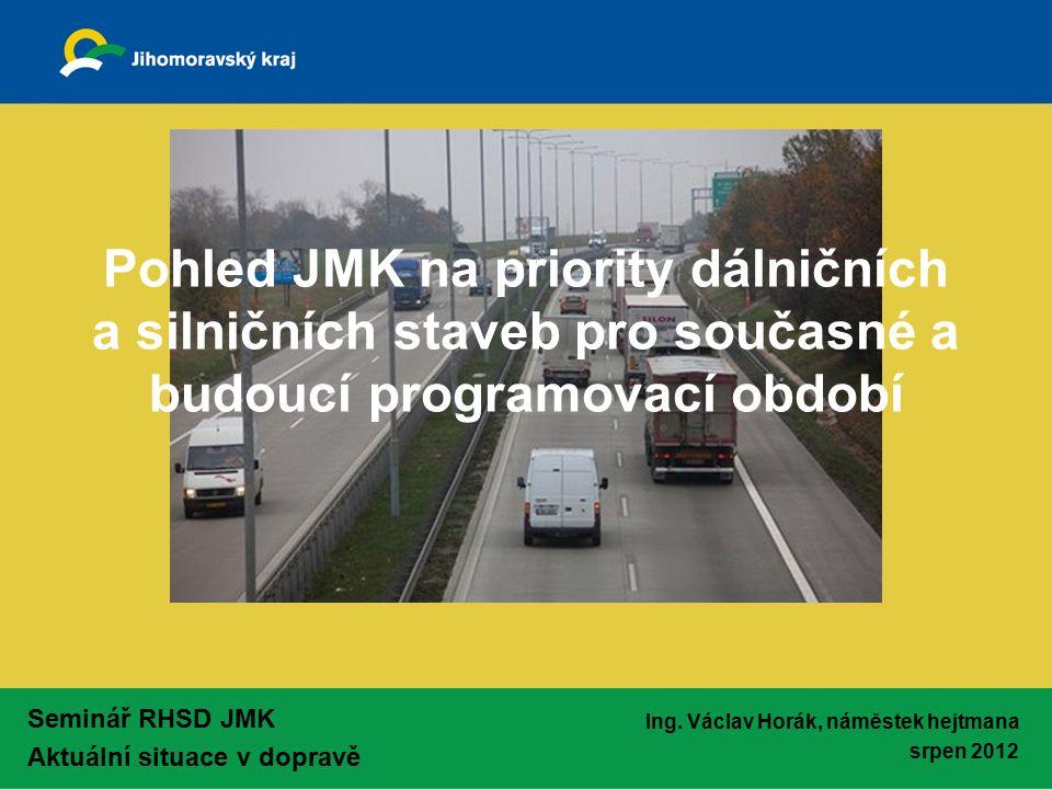 Seminář RHSD JMK Aktuální situace v dopravě Ing.